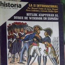 Coleccionismo de Revista Historia 16: HISTORIA 16. NUMERO 161 EL ABRAZO DE VERGARA. LA II INTERNACIONAL.. Lote 219470277