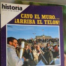Coleccionismo de Revista Historia 16: HISTORIA 16. NUMERO 166 CAYÓ EL MURO...¡ARRIBA EL TELÓN!. 1895: MILITARES CONTRA PERIODISTAS. Lote 219470457