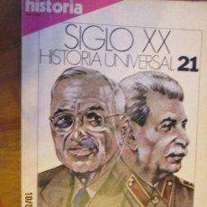 Coleccionismo de Revista Historia 16: HISTORIA SIGLO XX HISTORIA UNIVERSAL Nº 21 - LA GUERRA FRIA .... Lote 220997421