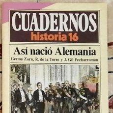 Coleccionismo de Revista Historia 16: CUADERNOS HISTORIA 16 Nº 19 ASÍ NACIÓ ALEMANIA. Lote 221402753