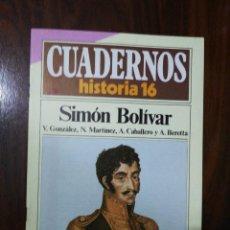 Coleccionismo de Revista Historia 16: SIMÓN BOLÍVAR - VV.AA.. CUADERNOS HISTORIA 16. 63. Lote 222598406