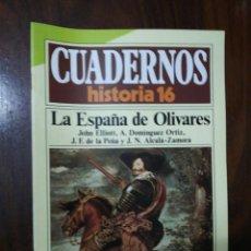 Coleccionismo de Revista Historia 16: LA ESPAÑA DE OLIVARES - VV.AA.. CUADERNOS HISTORIA 16. 148. Lote 222598446