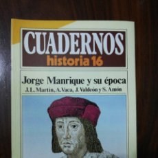 Coleccionismo de Revista Historia 16: JORGE MANRIQUE Y SU ÉPOCA - VV.AA.. CUADERNOS HISTORIA 16. 258. Lote 222598553