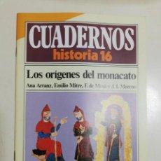 Coleccionismo de Revista Historia 16: LOS ORÍGENES DEL MONACATO - VV.AA.. CUADERNOS HISTORIA 16. 59. Lote 222602976