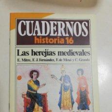 Coleccionismo de Revista Historia 16: LAS HEREJÍAS MEDIEVALES - VV.AA.. CUADERNOS HISTORIA 16. 66. Lote 222603068
