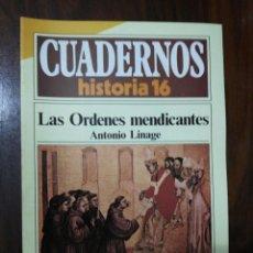 Coleccionismo de Revista Historia 16: LAS ÓRDENES MENDICANTES - ANTONIO LINAGE. CUADERNOS HISTORIA 16. 231. Lote 222605427