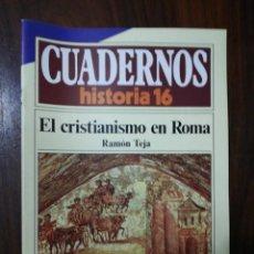 Coleccionismo de Revista Historia 16: EL CRISTIANISMO EN ROMA - RAMÓN TEJA. CUADERNOS HISTORIA 16. 151. Lote 222605638