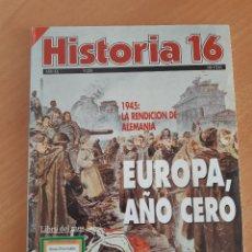 Coleccionismo de Revista Historia 16: REVISTA HISTORIA 16. NUM 228 (ABRIL 1995) EUROPA AÑO CERO. 1945 LA RENDICIÓN DE ALEMANIA. Lote 222835041
