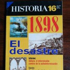 Coleccionismo de Revista Historia 16: HISTORIA 16. 1898, EL DESASTRE. Nº 264. Lote 222999961