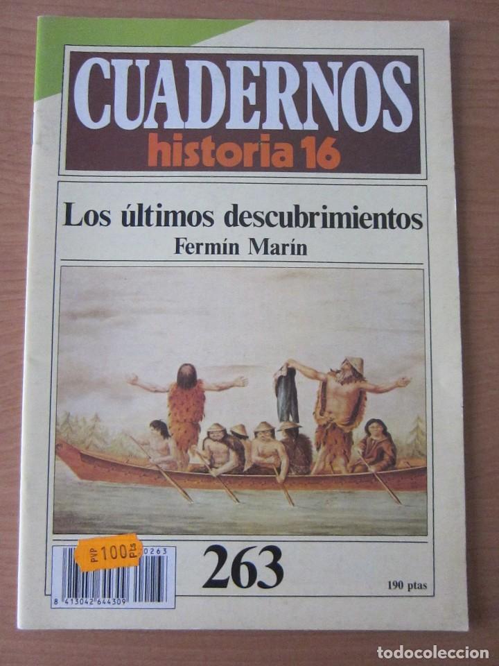 LOS ÚLTIMOS DESCUBRIMIENTOS. CUADERNOS HISTORIA 16 (Coleccionismo - Revistas y Periódicos Modernos (a partir de 1.940) - Revista Historia 16)
