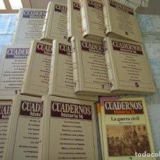Collectionnisme de Magazine Historia 16: LOTE DE 13 ARCHIVADORES DE CUADERNOS HISTORIA 16 ALGUNO SUELTO. Lote 226002730