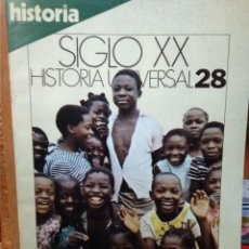Coleccionismo de Revista Historia 16: SIGLO XX, HISTORIA UNIVERSAL 28, EL DESPERTAR DE ÁFRICA, FIN DEL COLONIALISMO EUROPEO. Lote 227962947