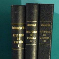 Coleccionismo de Revista Historia 16: HISTORIA DE ESPAÑA. HISTORIA 16. Nº 1 AL Nº 13 ENCUADERNADOS EN TRES VOLÚMENES. OBRA COMPLETA. Lote 231208965