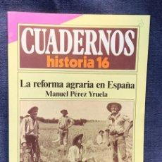 Coleccionismo de Revista Historia 16: CUADERNOS DE ARTE ESPAÑOL Nº 239 LA REFORMA AGRARIA EN ESPAÑA MANUEL PEREZ YRUELA. Lote 232162445
