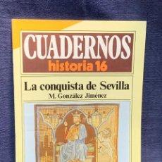 Collectionnisme de Magazine Historia 16: CUADERNOS DE ARTE ESPAÑOL Nº 244 LA CONQUISTA DE SEVILLA M. GONZALEZ JIMENEZ. Lote 232164500
