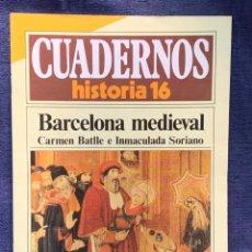 Coleccionismo de Revista Historia 16: CUADERNOS DE ARTE ESPAÑOL Nº 253 BARCELONA MEDIEVAL CARMEN BATLLE E INMACULADA SORIANO. Lote 232166715