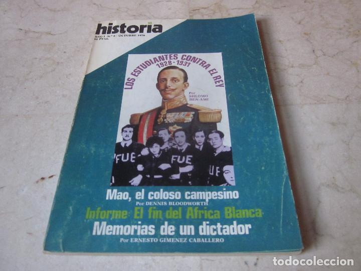 HISTORIA 16 - AÑO I - Nº 6 - OCTUBRE 1976 - LOS ESTUDIANTES CONTRA EL REY (Coleccionismo - Revistas y Periódicos Modernos (a partir de 1.940) - Revista Historia 16)