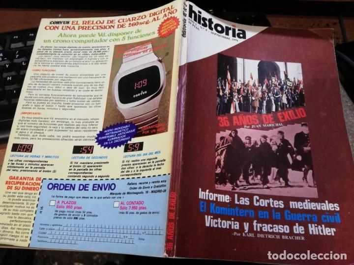Coleccionismo de Revista Historia 16: HISTORIA 16 Nº 5 - 36 AÑOS DE EXILIO - JUAN MARICHAL - Foto 2 - 237307185