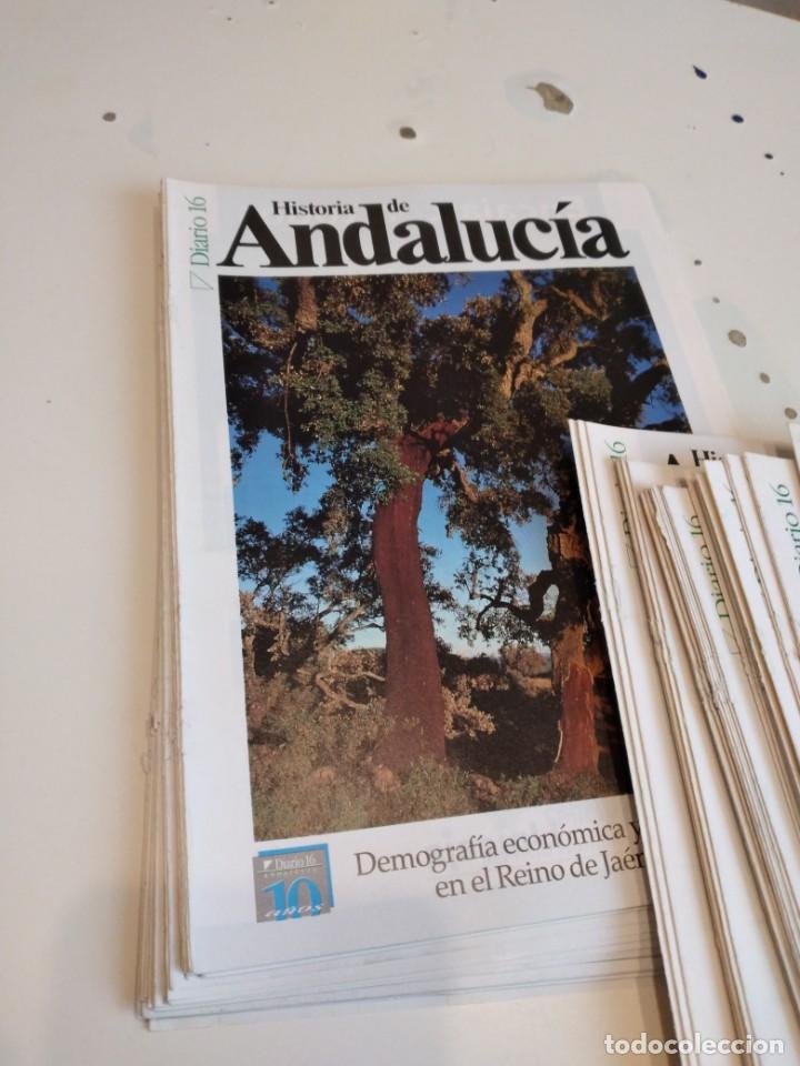 Coleccionismo de Revista Historia 16: M-7 OJO SOLO PORTADAS SIN EL FASCICULO DE DIARIO 16 HISTORIA DE ANDALUCIA LOTE MAS DE 80 - Foto 2 - 238025925