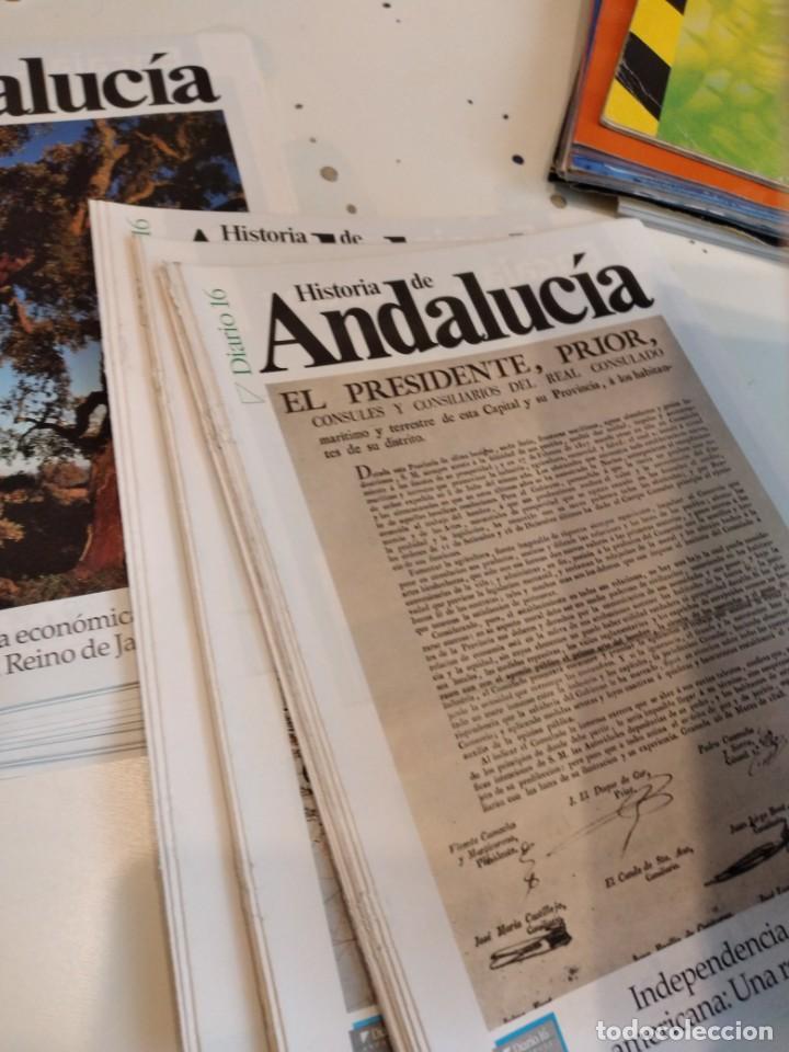 Coleccionismo de Revista Historia 16: M-7 OJO SOLO PORTADAS SIN EL FASCICULO DE DIARIO 16 HISTORIA DE ANDALUCIA LOTE MAS DE 80 - Foto 3 - 238025925