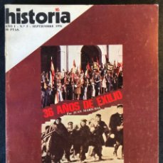 Coleccionismo de Revista Historia 16: REVISTA HISTORIA 16 - AÑO I - Nº5 - SEPTIEMBRE 1976 - 36 AÑOS DE EXILIO-VICTORIA Y FRACASO DE HITLER. Lote 245943010