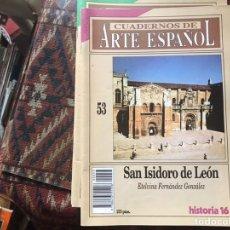 Coleccionismo de Revista Historia 16: SAN ISIDORO DE LEÓN. ETELVINA FERNÁNDEZ. CUADERNOS DE ARTE ESPAÑOL 53. Lote 246027840