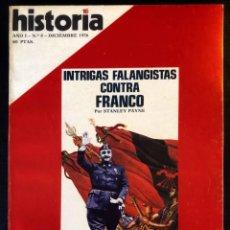 Coleccionismo de Revista Historia 16: REVISTA HISTORIA 16 -AÑO I - Nº8 - DICIEMBRE 1976- INTRIGAS FALANGISTAS CONTRA FRANCO - COMPANYS. Lote 246501310