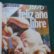 Coleccionismo de Revista Historia 16: CAMBIO 16 LOTE DE REVISTAS DEL 29 DE DICIEMBRE DE 1975 AL 4 DE ABRIL DEL 1976. Lote 246661215