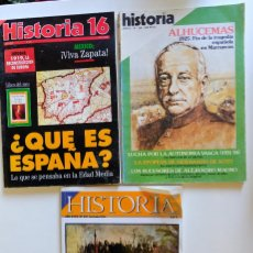 Coleccionismo de Revista Historia 16: HISTORIA 16. Nº 114, 215, 341. QUE ES ESPAÑA. MISION FILIPINAS LEGAZPI. ALHUCEMAS. Lote 247466305