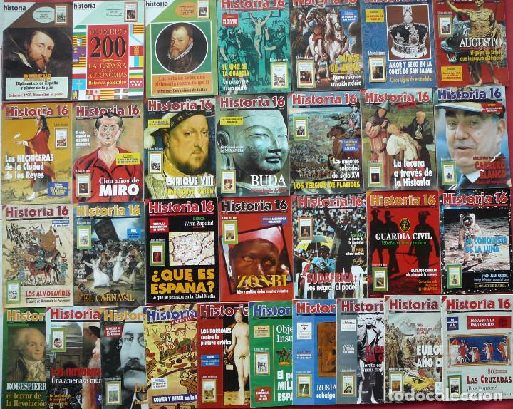 31 EJEMPLARES DE LA REVISTA HISTORIA 16 (NÚMEROS DEL 199 AL 229, AMBOS INCLUIDOS) (Coleccionismo - Revistas y Periódicos Modernos (a partir de 1.940) - Revista Historia 16)