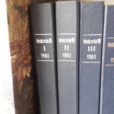 Coleccionismo de Revista Historia 16: HISTORIA 16 REVISTA AÑO 1983 COMPLETO CON TAPAS SIN COSER. Lote 253279425