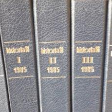 Coleccionismo de Revista Historia 16: HISTORIA 16 REVISTA AÑO 1985 COMPLETO CON TAPAS SIN COSER. Lote 253279810