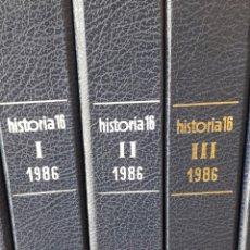Coleccionismo de Revista Historia 16: HISTORIA 16 REVISTA AÑO 1986 COMPLETO CON TAPAS SIN COSER. Lote 253279995