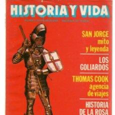 Coleccionismo de Revista Historia 16: HISTORIA Y VIDA. Nº 169. SAN JORGE, MITO Y LEYENDA. ABRIL 1982.(T/15). Lote 255919455