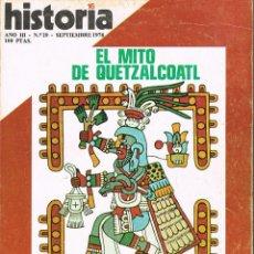 Coleccionismo de Revista Historia 16: HISTORIA 16 Nº 29, LA MUJER EN LAS CANTIGAS, VOLTER, ESPAÑA Y EL CONDE DE ARANDA, AZTECA, VER INDICE. Lote 260403400