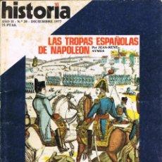 Coleccionismo de Revista Historia 16: HISTORIA 16 Nº 20, LAS TROPAS ESPAÑOLAS DE NAPOLEÓN, LA GUERRA CIVIL EN EL MAR, CERÁMICA, VER INDICE. Lote 260403785