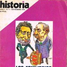 Coleccionismo de Revista Historia 16: HISTORIA 16 Nº 7, LA REVOLUCIÓN SOVIETICA, , VER INDICELOS EQUILIBRIOS CANOVISTAS, VER INDICE. Lote 260405005