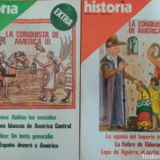 Coleccionismo de Revista Historia 16: REVISTA HISTORIA 16 EXTRA - LA CONQUISTA DE AMÉRICA I Y II. Lote 261990575