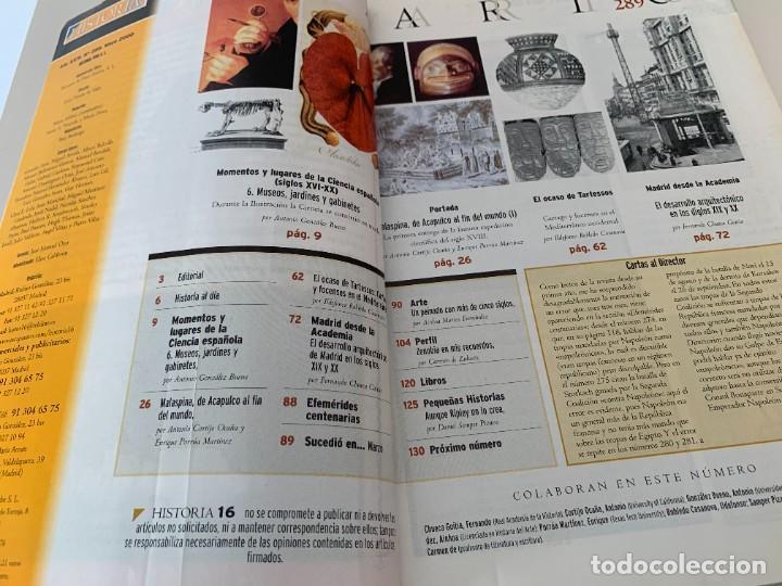 Coleccionismo de Revista Historia 16: Historia 16- Nº 289–MAYO 2000 - Malaspina de Acapulco al fin del mundo - Foto 3 - 267801114
