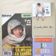 Coleccionismo de Revista Historia 16: HISTORIA 16 - 145 HISTORIA DE UNA MARGINACIÓN LA MUJER EN ESPAÑA + AMAN DEMASIADO + CARIÑO AHORA VOY. Lote 269688503