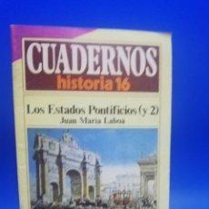 Coleccionismo de Revista Historia 16: CUADERNOS HISTORIA 16. LOS ESTADOS PONTIFICIOS. JUAN MARIA LABOA. 1985. PAGS. 31.. Lote 270692778