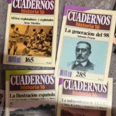 Coleccionismo de Revista Historia 16: LOTE 4 CUADERNOS HISTORIA 16: 44, 165, 227, 285. Lote 285687413