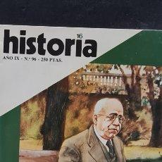 Coleccionismo de Revista Historia 16: PRECIOSA REVISTA HISTORIA 16. N° 96. AZAÑA, EL OCASO DE UN PRESIDENTE.. Lote 288456633