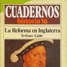 Coleccionismo de Revista Historia 16: LA REFORMA EN INGLATERRA - CUADERNOS HISTORIA 16, Nº 125. Lote 290090768