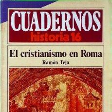 Coleccionismo de Revista Historia 16: EL CRISTIANISMO EN ROMA - CUADERNOS HISTORIA 16, Nº 151. Lote 294006428