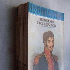 Coleccionismo de Revista Historia y Vida: HISTORIA Y VIDA-AÑO II / III, NSº.20, 21, 22 , 23 ,26,, 29 .-1969/1970.- 6 REVISTAS. Lote 15964304