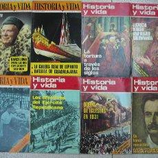 Coleccionismo de Revista Historia y Vida: HISTORIA Y VIDA LOTE Nº2 - 8 EJEMPLARES. . Lote 27232661