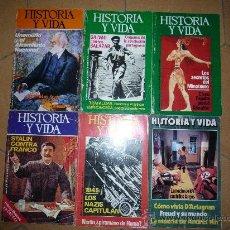 Coleccionismo de Revista Historia y Vida: LOTE DE 6 REVISTAS 'HISTORIA Y VIDA' N` 75, 76, 78, 90, 92, 102. ENTRE. 1974 Y 1976. . Lote 14296968