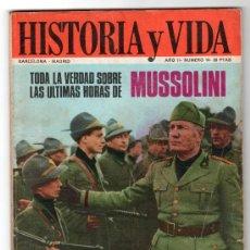 Coleccionismo de Revista Historia y Vida: REVISTA MENSUAL HISTORIA Y VIDA. AÑO II. Nº 14. MADRID BARCELONA MAYO DE 1969. Lote 15165424