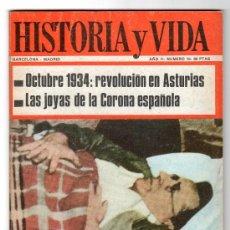 Coleccionismo de Revista Historia y Vida: REVISTA MENSUAL HISTORIA Y VIDA. AÑO II. Nº 19. MADRID BARCELONA OCTUBRE DE 1969. Lote 15165456